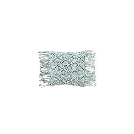 J-line - Cojín Macrame algodón Aqua: Amazon.es: Hogar