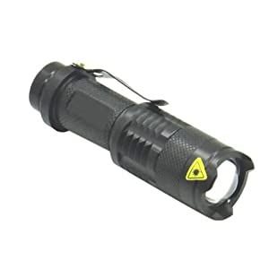 New Mini Led flashlight AA 14500 Torch CREE Q5 Zoom LED Lamp With Cycling Bike Bicycle With Mount
