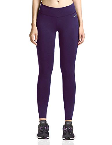 Baleaf Women's Ankle Legging Yoga Pants Inner Pocket Non See-Through Gothic Grape Size S ()