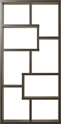 71'' Cube Unit Bookcase Made From Wood With 10 Shelves In Brown Colro Organize and Make Your Living Room Styish Store and Organize