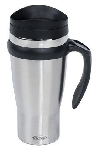 Trudeau Maison Drive Time Travel Mug, 18 oz, Stainless - 18 Mug Thermal Oz Time