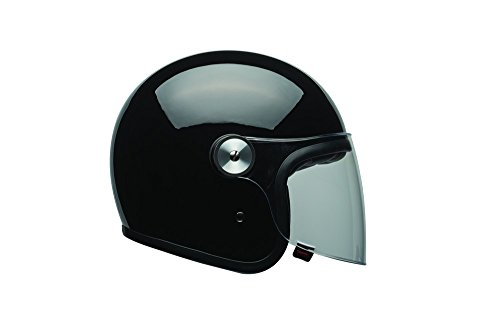 Bell LE Riot Gloss Black Open Face Helmet, - Open Helmets Bell Face