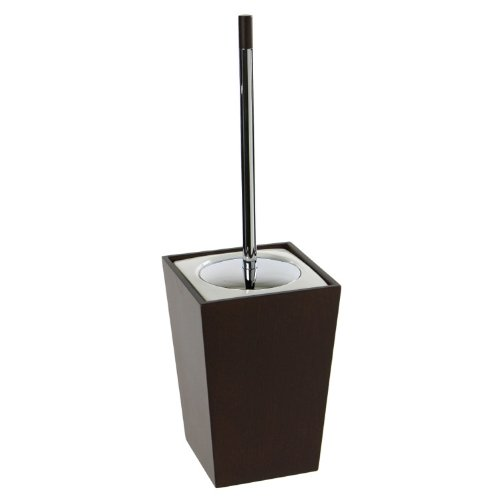 Gedy Kyoto Square Wood Toilet Brush Holder, Tanganyika by Gedy