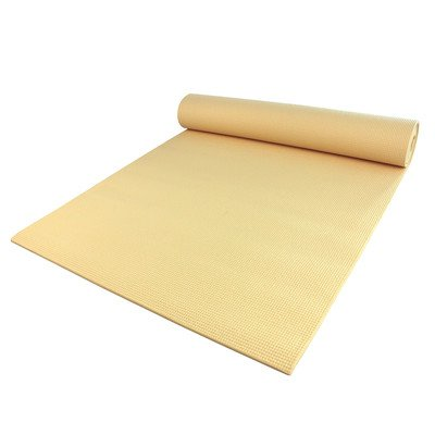 Yoga Direct Deluxe Extra Thick Yoga Sticky Mat, Chamomile, 1/4-Inch