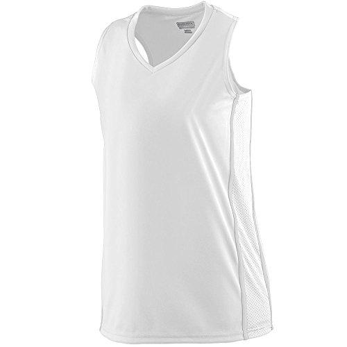 Augusta Sportswear Women's Winning Streak Racerback Jersey L White/White ()
