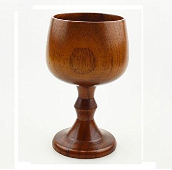 ASIBT Hand-made Jujube Wooden Wine Goblet Water Cup 7oz SYNCHKG128846