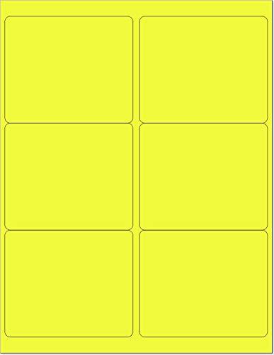 amazon com 8 1 2 x 11 neon color high light fluorescent labels