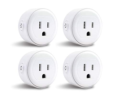 Greendot Wifi Smart Plug Mini, Smart Home Power Control Socket, Remote Control Your Household Equipment from Everywhere, No Hub Required, Compatible with Alexa and other assistant (4 Packs) (4)