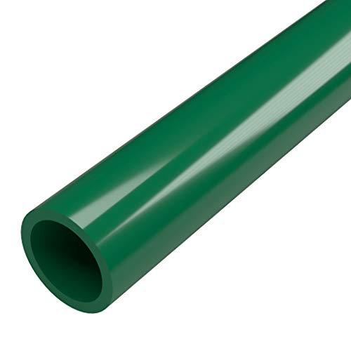 FORMUFIT P114FGP-GR-5 Schedule 40 PVC Pipe, Furniture Grade, 5, 1-1/4 Size, Green
