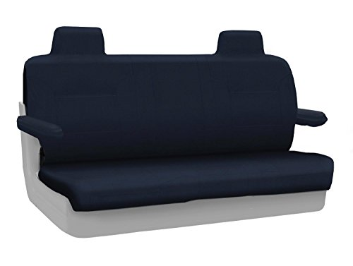 Coverking Rear Custom Fit Seat Cover for Select Lincoln Town Car Models - Poly Cotton (Navy Blue) ()