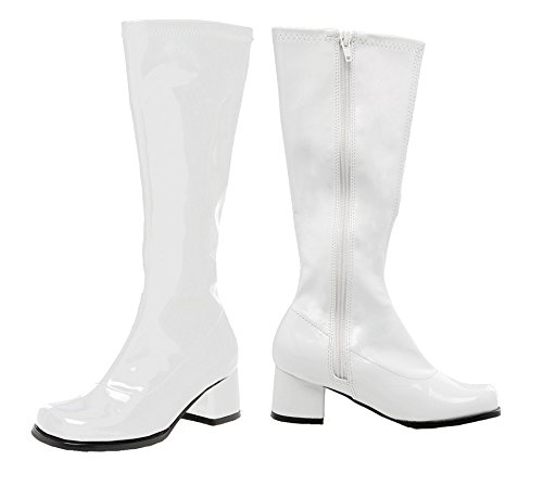 SALES4YA Kids-Costume-Accessory Go Go Boot Child Size 3 White Halloween Costume]()