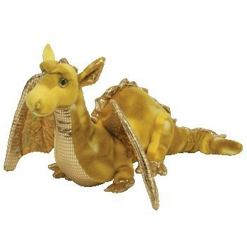 Amazon.com  TY Classic Plush - TEMPEST the Gold Dragon (Borders ... 9e570931128