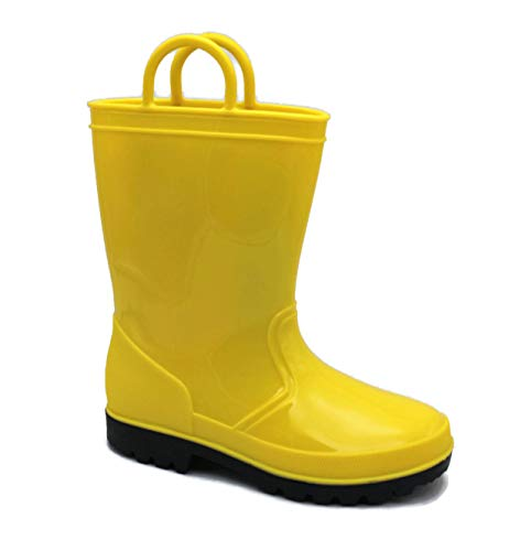SkaDoo Yellow Kids Rain Boots 7 M US Toddler -