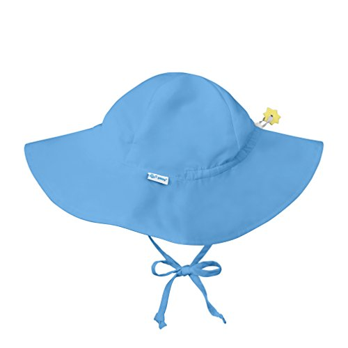 i play. Baby Solid Brim Sun Protection Hat, Light Blue, 9-18 Months