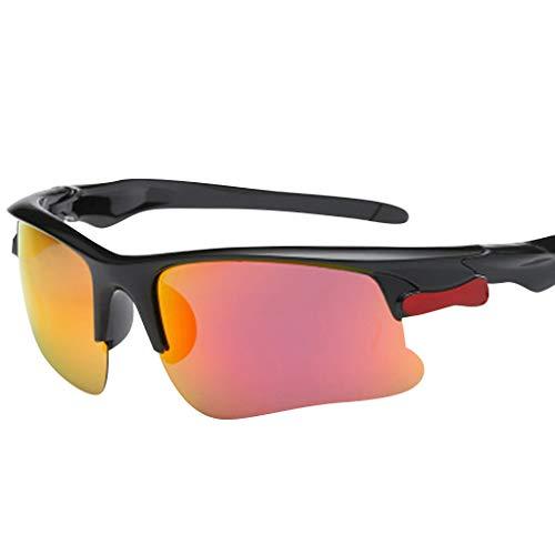 (Men Women Vintage Rectangular Polarized Sunglasses Outdoor Sports Sunglasses Eyewear (Purple,Red,Blue,Beige,Yellow))