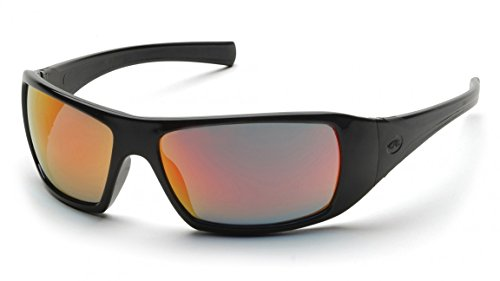 (Pyramex SB5645D Goliath Safety Glasses Black Ice Orange Mirror Lens (12 Pair))