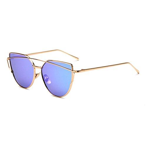 para Decorativas Mujer Sol De Sol Hombre Gafas Sol B De Metal Colores Cat Gafas Sapo Gafas JUNHONGZHANG norte De Eye De q7UgOx