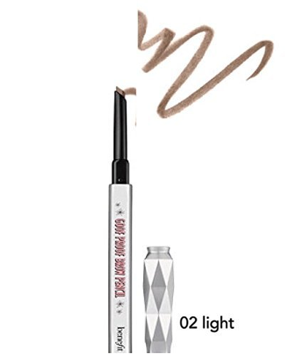 benefit goof proof brow grow super easy brow filling and shaping pencil travel size - 02 Light 0.11 g / 0.003 oz by Benefit Cosmetics