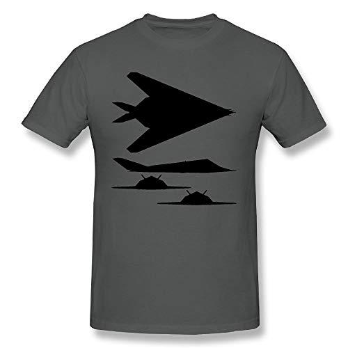 QTHOO Men's F 117 Nighthawk Short Sleeve T Shirt Asphalt