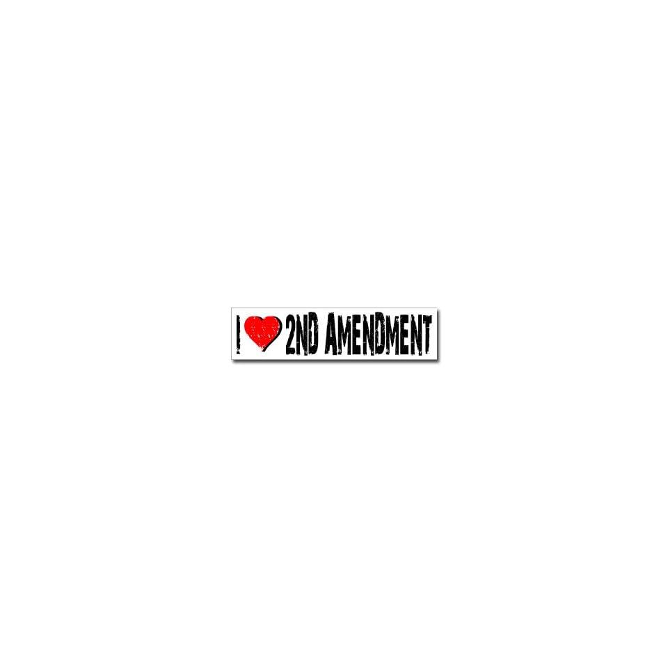 I Love 2nd Amendment   Window Bumper Sticker