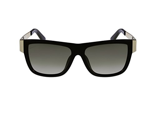Gucci Sunglasses - 3718  Frame Black Gold Lens Brown Gradient