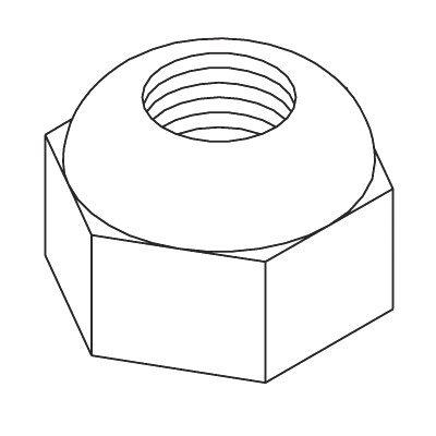 Boss Part # HDW01709-5/8-11 Grade B Oval Top Lock Nut
