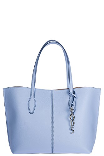 Tod's Bags With Long Handles Woman Shopping In New Skin Blu