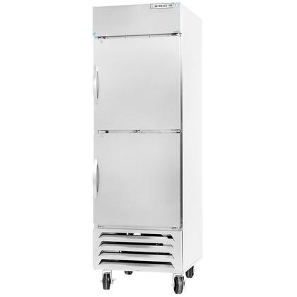 Beverage-Air FB23-1HS 24'' Vista Series One Section Solid Half Door Reach-In Freezer 23 cu.ft. Capacity Stainless Steel Front Robust Gray Painted Exterior Sides Aluminum Interior wi