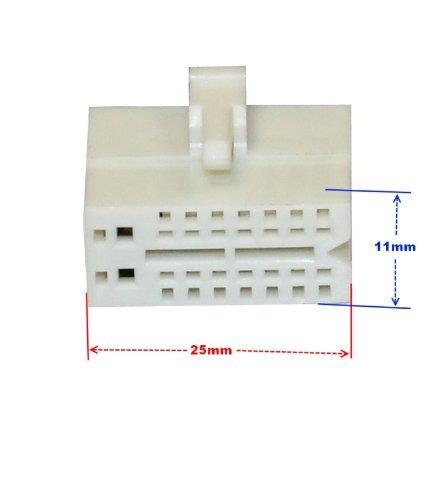 AERZETIX Adaptador H6 con ISO Cables enchufes para autoradio