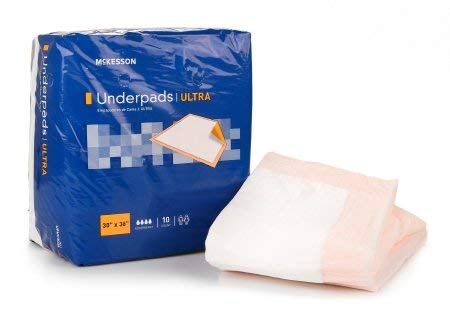McKesson UPHV3036 StayDry Ultra Underpads, 30'' x 36'' (Pack of 100)