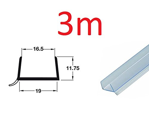 67.5cm Length Plinth Sealing Strip for 18-19mm Panel Thickness Clear Plastic 10 Strips at 675mm
