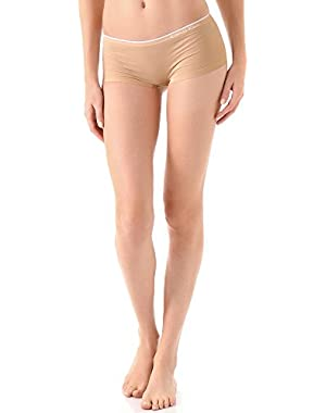 Calvin Klein Underwear Women's Seamless Hipster Panty, Almond, X-Large