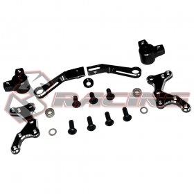 3Racing Aluminum Steering System Black For Sakura D4 AWD RWD #SAK-D4819/V2/BK