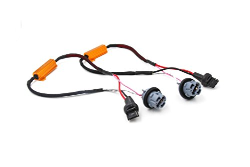 Turn Mazda Signal (Alla Lighting 7440 7441 T20 50W 6Ohm Error Free LED Lights Load Resistor Adapter Fix Flashing Fast Blinking Canbus Bypass Wiring Harness for Upgrading LED Turn Signal Blinker Light Lamps)