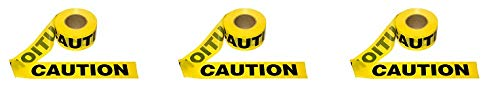 Cordova Safety Products T15101 Pro Pack Caution Tape (12 Pack), 3''/1000', Yellow (3-(Pack))