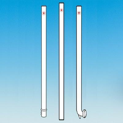 ACE GLASS 8075-12 Solid Glass Stirring Shaft, Polished, Button Type, 10 mm Diameter, 44cm Size ()