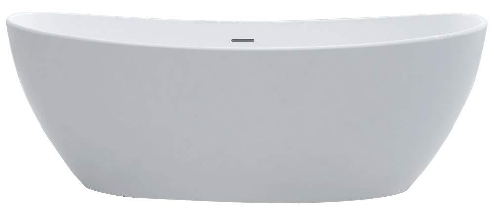 Freistehende Badewanne aus Mineralguss HAWAII STONE - 180 x 85 cm - Wä hlbar in Matt oder Hochglanz, Ausfü hrung:Matt Bernstein Badshop