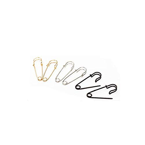 (MISSU JEWELLRY Creative Safety Pin Earrings without Sharp for Girls (Silver))