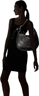 Calvin Klein Nola Novelty Hobo, Black/Gold