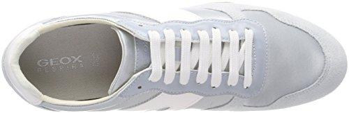 Geox Damen D Serpente Un Grau Sneaker (azzurro)