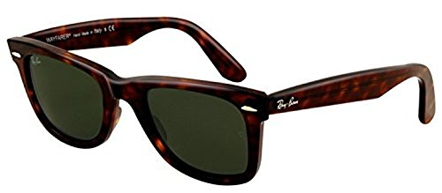 Ray-Ban Original Wayfarer RB 2140 Sunglasses Tortoise / Crystal Green (902) 54mm & HDO Cleaning Carekit - Rayban Rb Wayfarer 2140