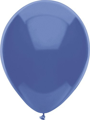(PartyMate 72369 Solid color Latex Balloons 100-Count Periwinkle)