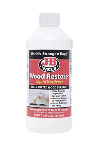 J-B Weld Original Version 40001 Wood Restore Liquid Hardener-16 oz
