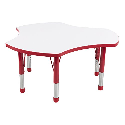 Adjustable Height Cog Shaped White Board/ Dry Erase Preschool Collaborative Activity Table by Sprogs