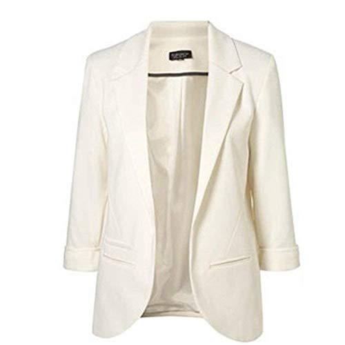Donna Lunga Primaverile Blazer Whiteer Tailleur Manica Slim Camicia Giacca Business Autunno Fit Tasche Monocromo Bavero Ufficio Cappotto Da Con Reis Sudore pqSwxd1Sg