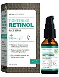 - Natura Apothecary Tightening Retinol Facial Serum with Vitamin C & E - Reduces Wrinkles & Fine Lines, Noticeably Younger & Tighter Looking Skin for all Skin Types 1oz/30ml