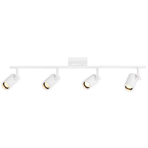 (Track Light with 4 Cylinder Spot Lights - White - GU10 Base)
