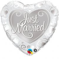 PIONEER BALLOON COMPANY Just Married Hea - Just Hearts Shopping Results