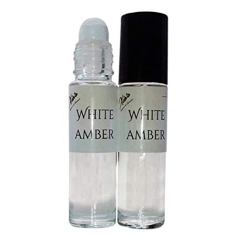 Amber White Fragrance Grade Oil Set of 2,1/3 oz Roll On Bottle Best Seller Scented Oils