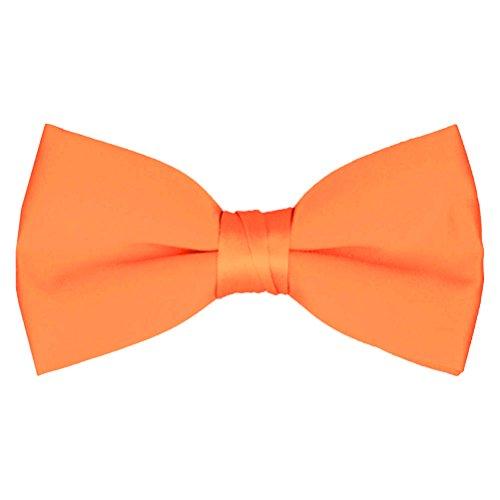 Orange Bowties (Boys' & Adult Deluxe Satin Adjustable Bow Tie By Tuxgear (Boys, Tangerine))